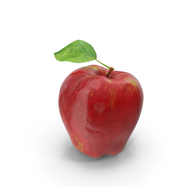 Red Apple With Leaf PNG & PSD Images