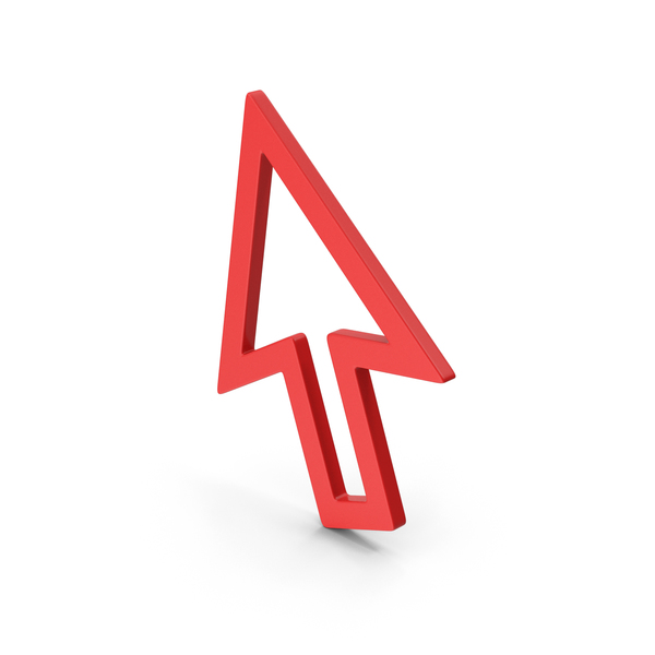 Directional: Red Arrow Cursor Symbol PNG & PSD Images