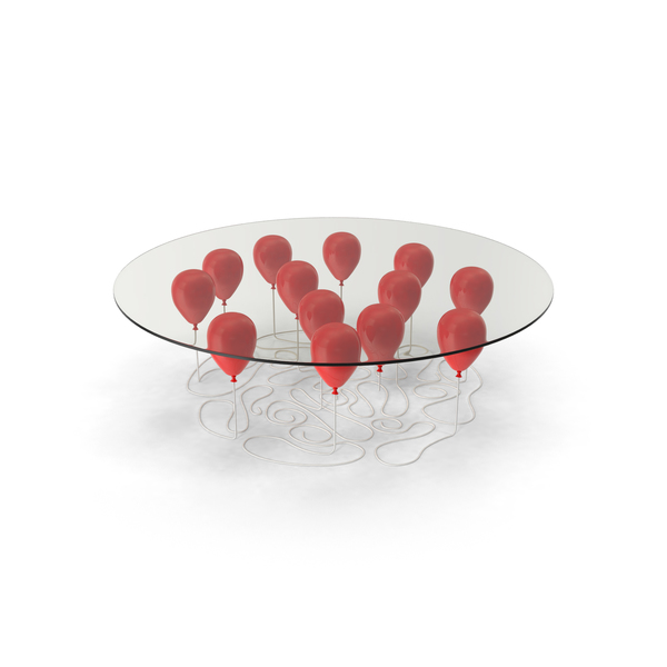 Red Balloon Coffee Table PNG & PSD Images