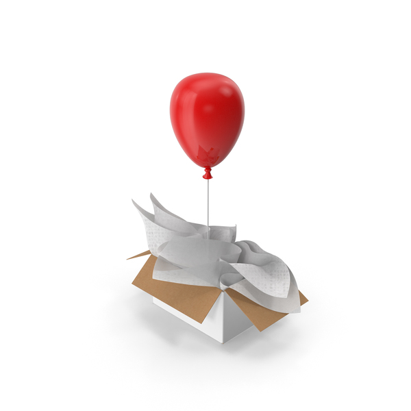 Red Balloon Gift Box PNG & PSD Images