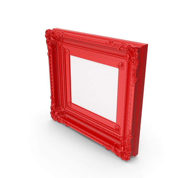 Red Baroque Picture PNG & PSD Images
