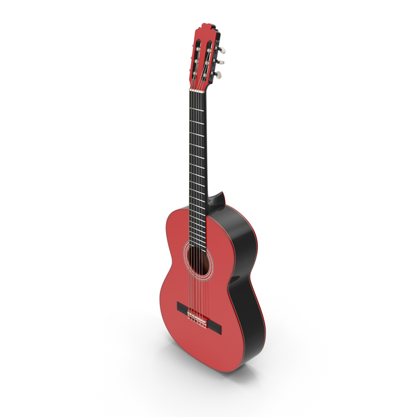 Red Black Multicolor Acoustic Guitar PNG & PSD Images