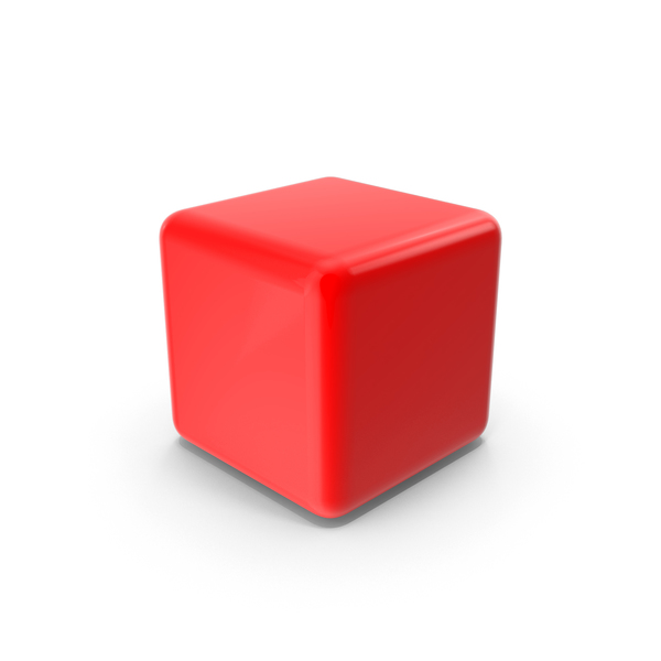 Red Blank Block Object