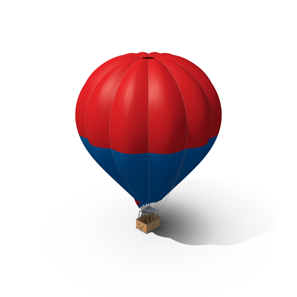 Hot: Red-Blue Air Balloon PNG & PSD Images