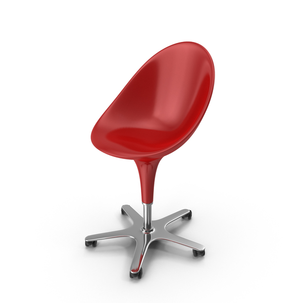 Office: Red Bombo Chair With Wheels PNG & PSD Images