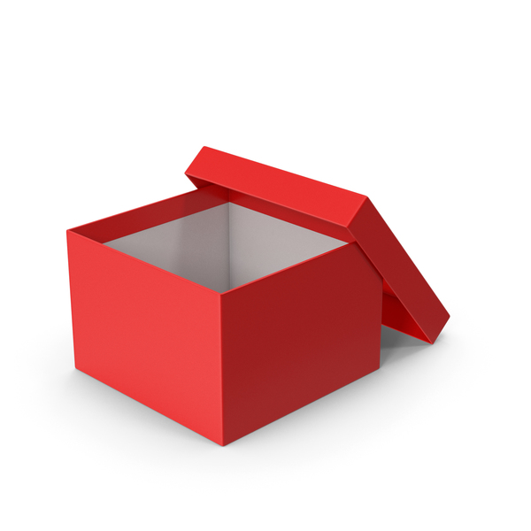Shoebox: Red Box Opened PNG & PSD Images