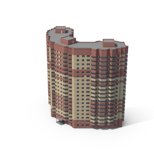Skyscraper: Red Brick Building PNG & PSD Images