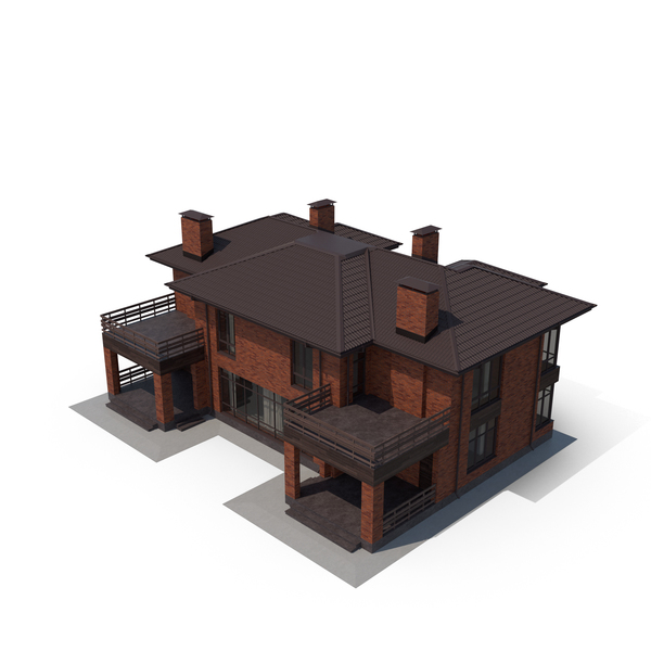 Red Brick Villa PNG & PSD Images