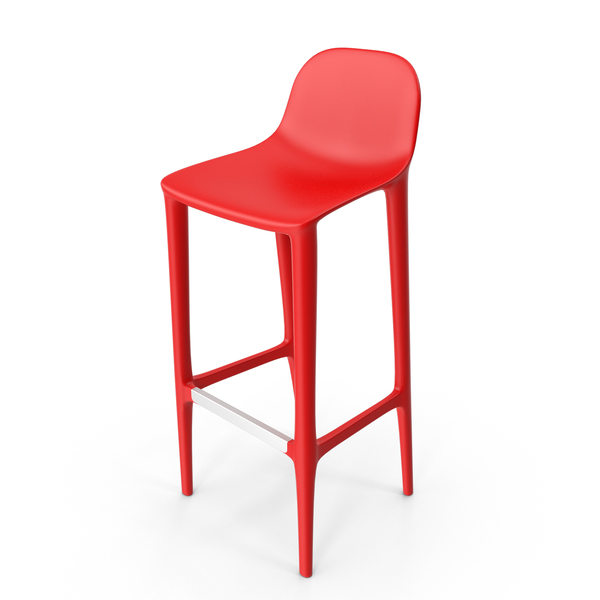 Bar Stool: Red Broom Barstool PNG & PSD Images