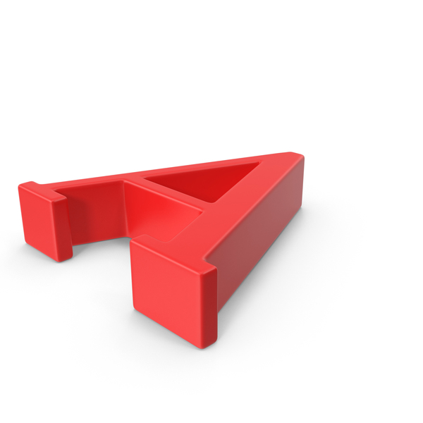 Red Capital Letter A Object