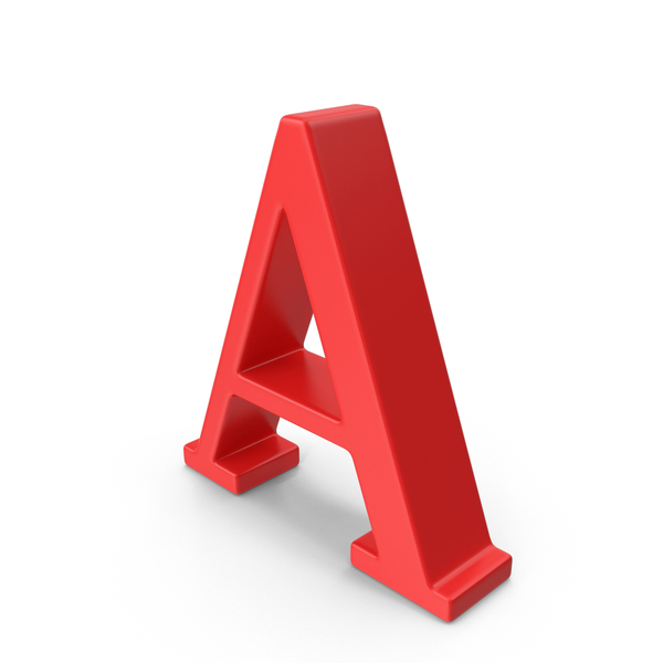 Red Capital Letter A PNG & PSD Images