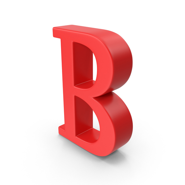 Red Capital Letter B PNG & PSD Images
