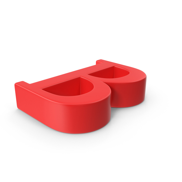 Red Capital Letter B Object