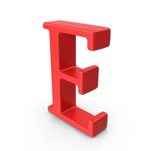 Red Capital Letter E PNG & PSD Images