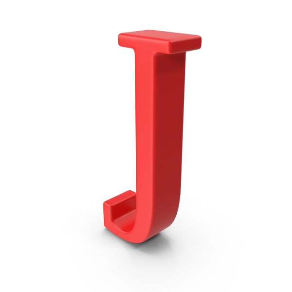 Red Capital Letter J PNG & PSD Images