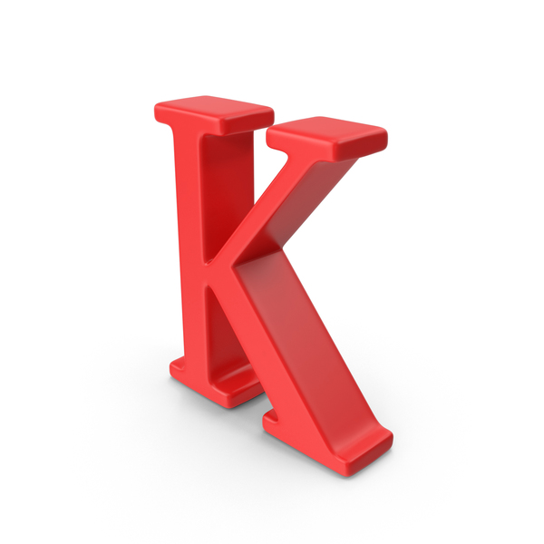 Red Capital Letter K PNG & PSD Images