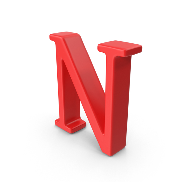 Red Capital Letter N Object