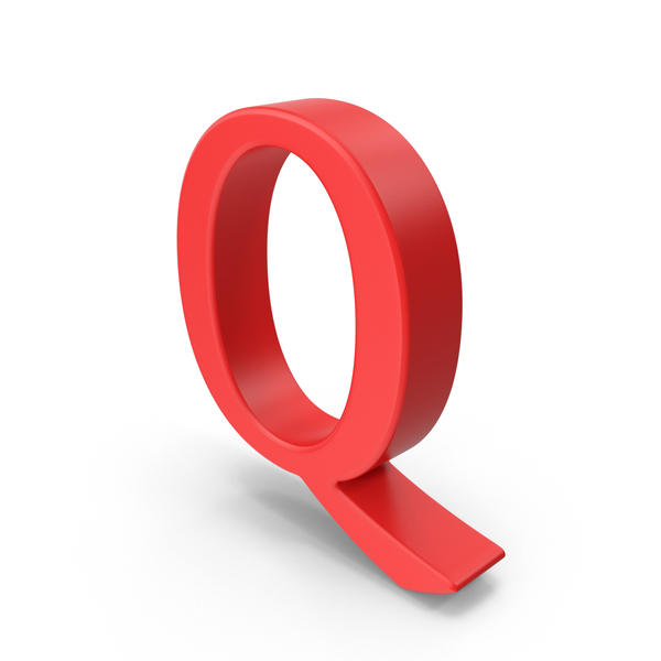 Red Capital Letter Q PNG & PSD Images