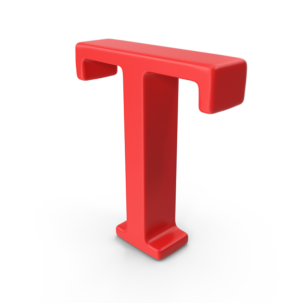 Red Capital Letter T Object