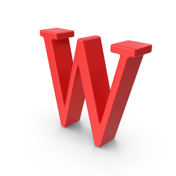 Red Capital Letter W Object