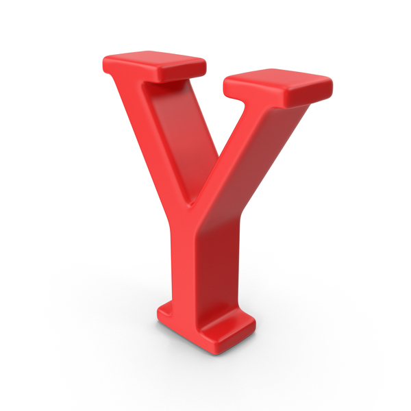 Red Capital Letter Y PNG & PSD Images