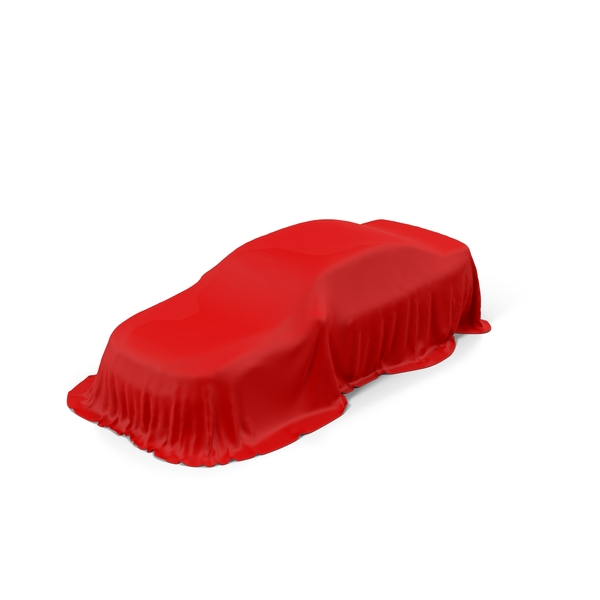 Red Car Cover Object