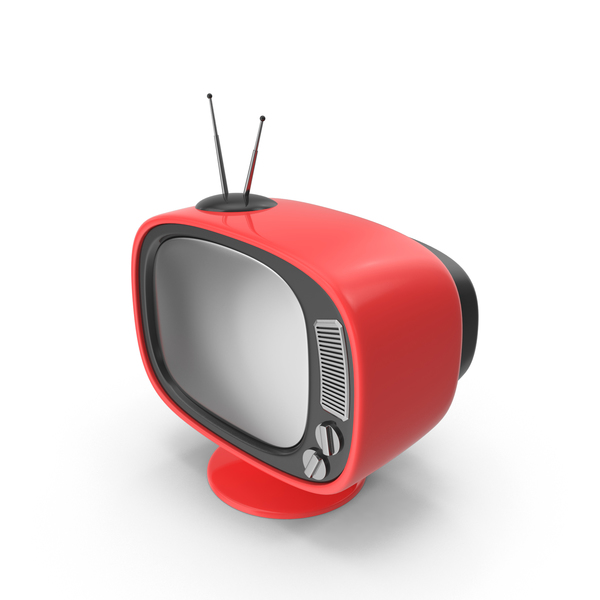 Tv: Red Cartoon Television PNG & PSD Images