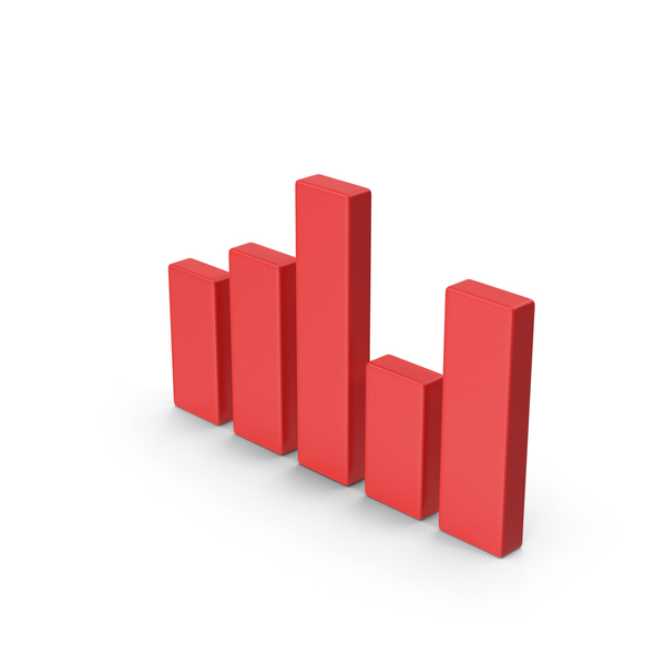 Bar Graph: Red Chart PNG & PSD Images