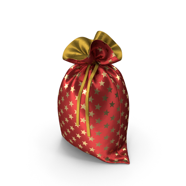 Red Christmas Bag with Gifts PNG & PSD Images