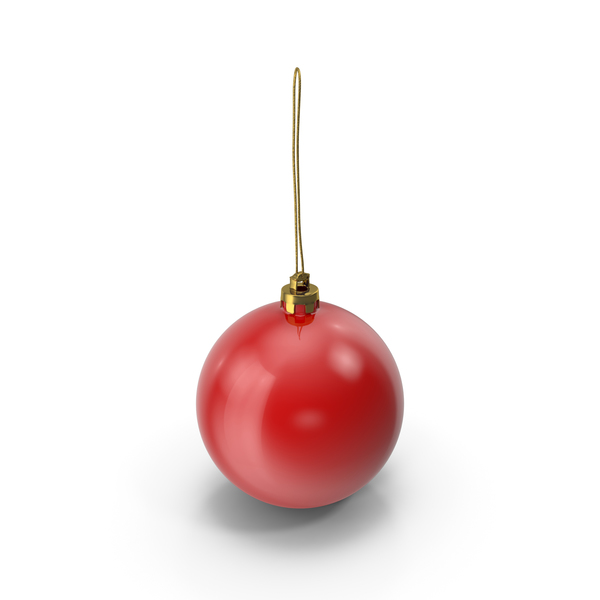 Ornament: Red Christmas Ball PNG & PSD Images