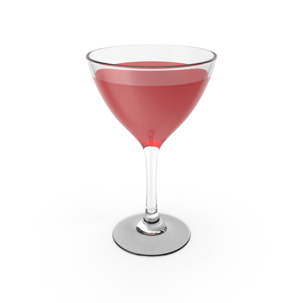 Red Cocktail Glass PNG & PSD Images