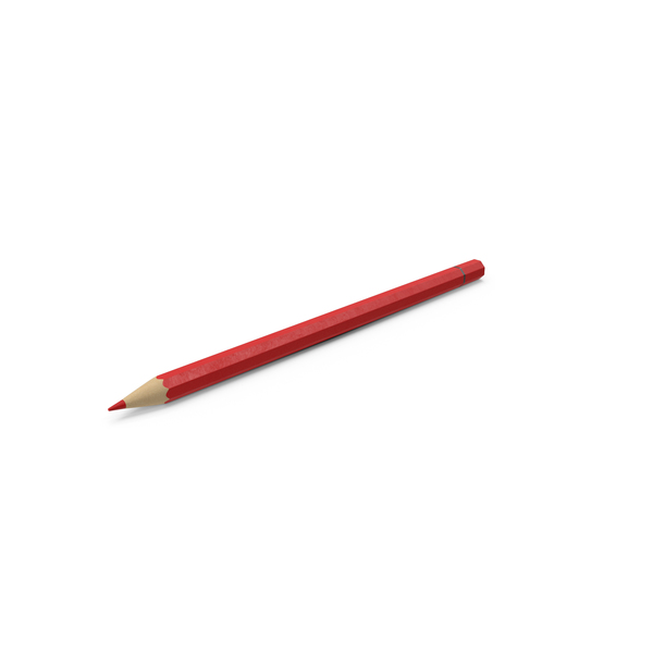 Red Color Pencil PNG & PSD Images