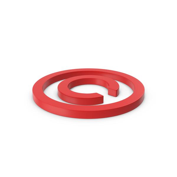 Symbols: Red Copyright Symbol PNG & PSD Images