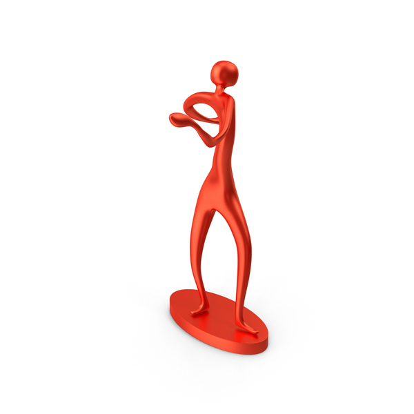 Red Decor Statue Dance Arms Around PNG & PSD Images