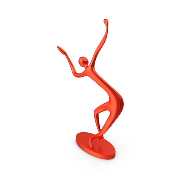 Red Decor Statue Dance Hand Tilt PNG & PSD Images
