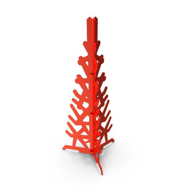 Red Decorative Christmas Tree PNG & PSD Images