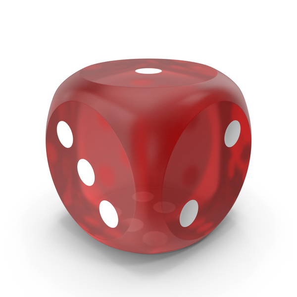 Red Dice Beveled Transparent PNG & PSD Images