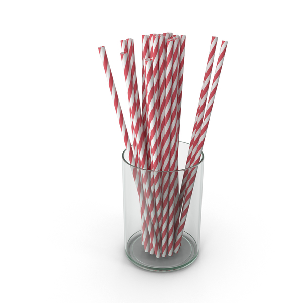 Red Drinking Straws PNG & PSD Images