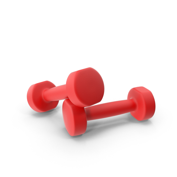 Red Dumbbells PNG & PSD Images
