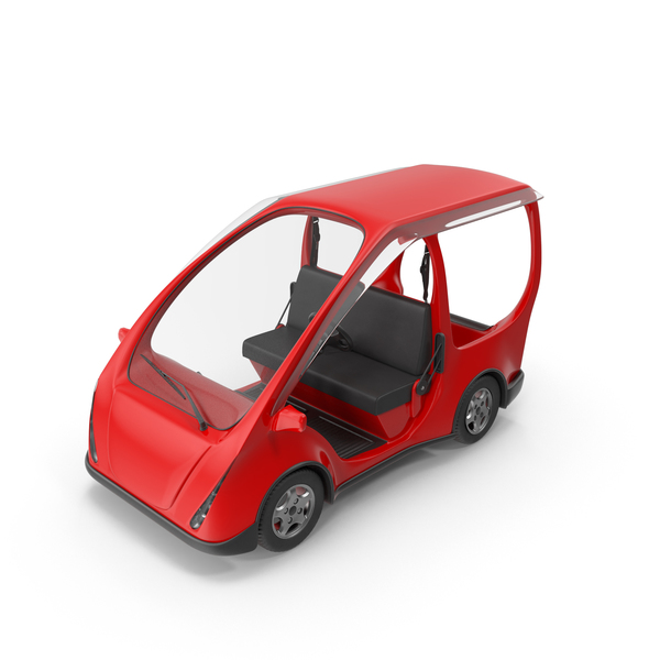Red Electric Golf Car PNG & PSD Images