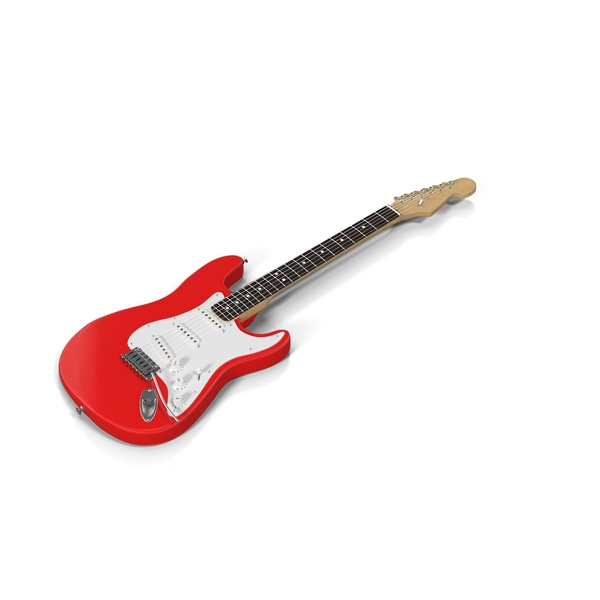 Red Electric Guitar Object