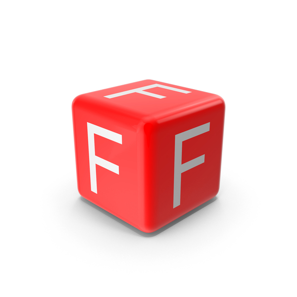 Red F Block Object