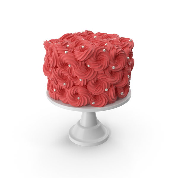 Red Flower Cake with Pearls PNG & PSD Images