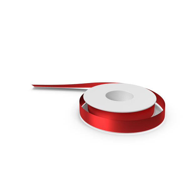 Red Foil Ribbon Spool PNG & PSD Images