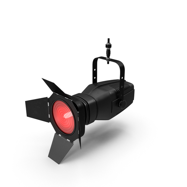 Stage Light: Red Fresnel Lantern PNG & PSD Images