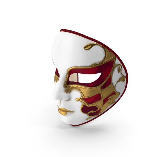 Red Full Face Carnival Mask PNG & PSD Images