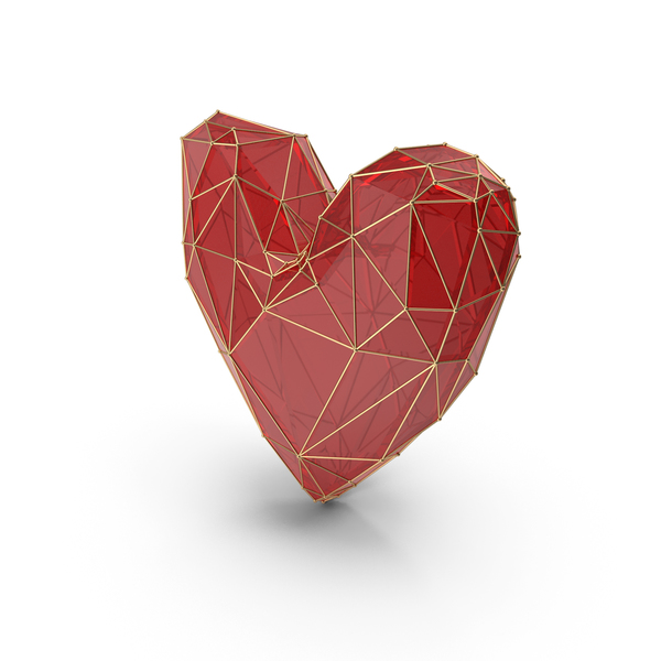 Shape: Red Glass Heart PNG & PSD Images