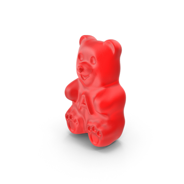 Red Gummy Bear PNG & PSD Images