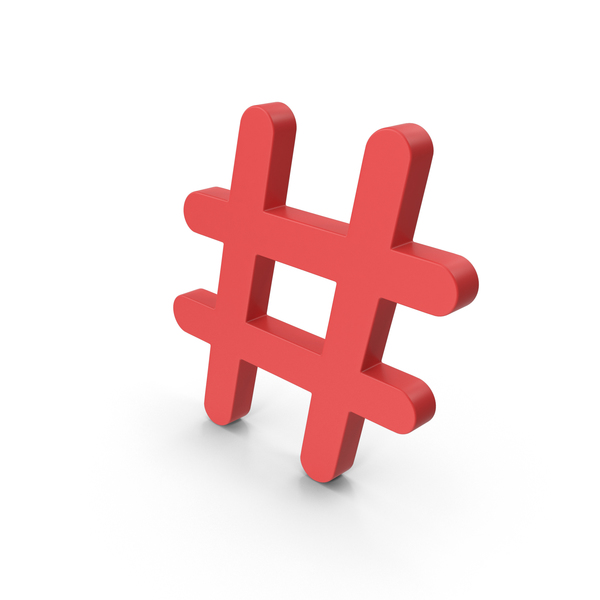 Red Hashtag PNG & PSD Images
