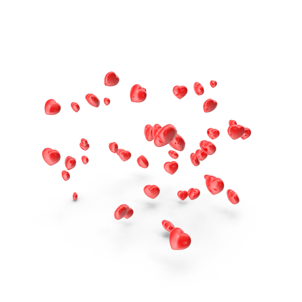 Red Hearts Falling PNG & PSD Images